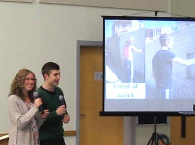 Beccy and Dan present their photos