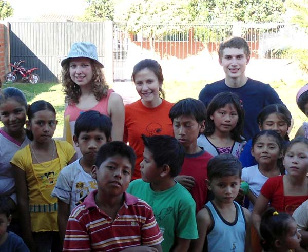 Helping with a project run by a youth group in Santa Cruz, Bolivia