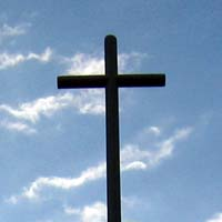 One of the crosses on the roof of the Christ Church building