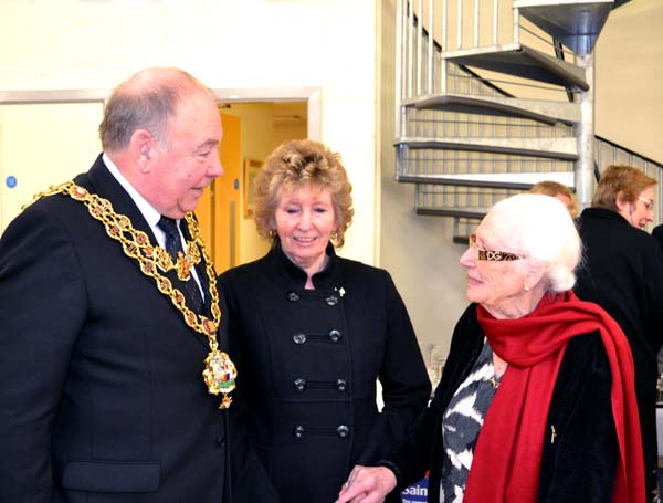 Daisy with the Lord Mayor and Lady Mayoress of Birmingham