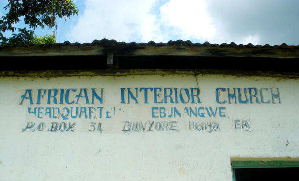 Sign on the African Interior Church building