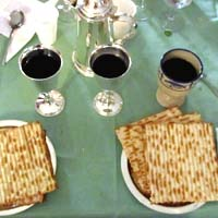 Holy Communion during a Maundy Thursday Passover celebration