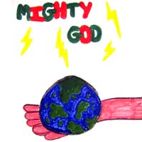 Mighty God: a child's drawing