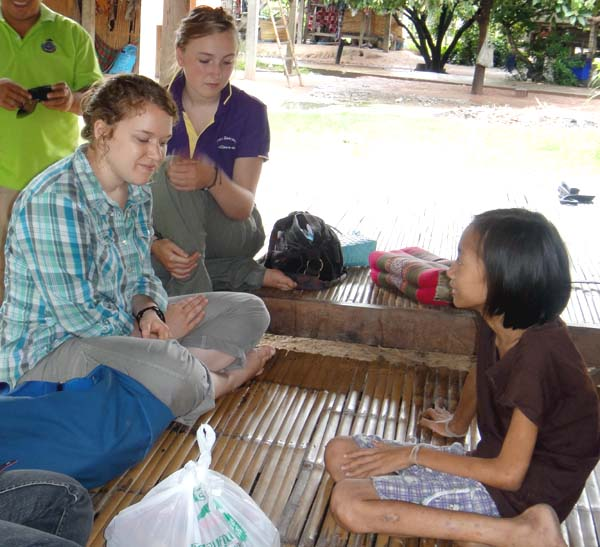 Rachel helping to teach English in Thailand