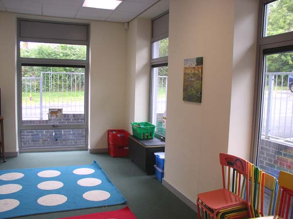 This room is used by the Scramblers group (ages 3-5) on Sunday mornings. There's another room of the same size at the front of the building